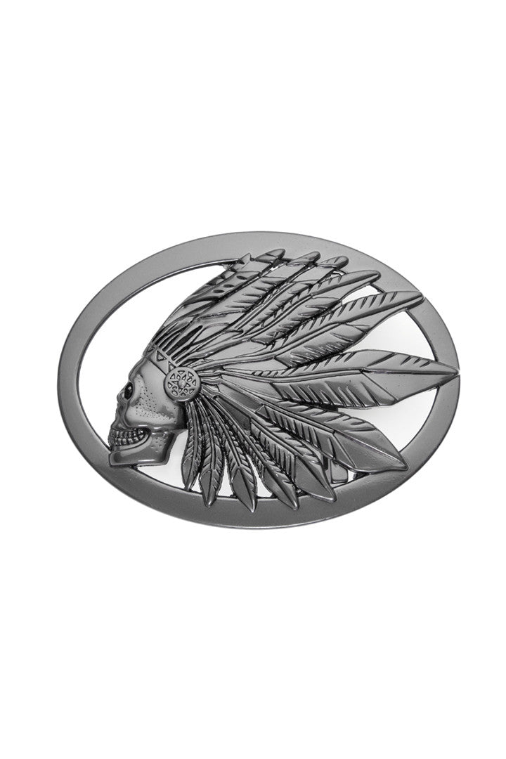 - Belt Buckle - Crown of Feathers Belt Buckle - 1