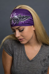 - Headband - Tribal Skulls Lady Guns Stone EZ Bandz - 5