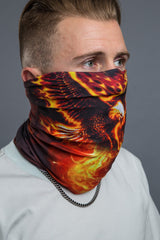 - Multi-Functional Headwear - Flaming Eagle EZ Tube - 3