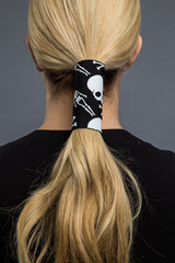 - Ponytail Holder - Skeleton Neoprene Hair Glove - 2