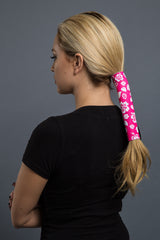 - Ponytail Holder - Hibiscus Flower Neoprene Hair Glove - 3