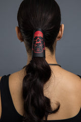 - Ponytail Holder - SOA Red Skull Est 1967 Embossed Hair Glove - 2