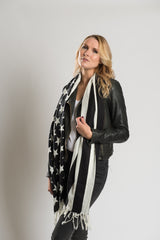 Black & White Stars & Stripes Scarf