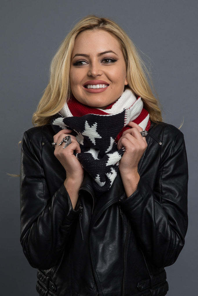 Stars and Stripes Reversible Infinity Scarf