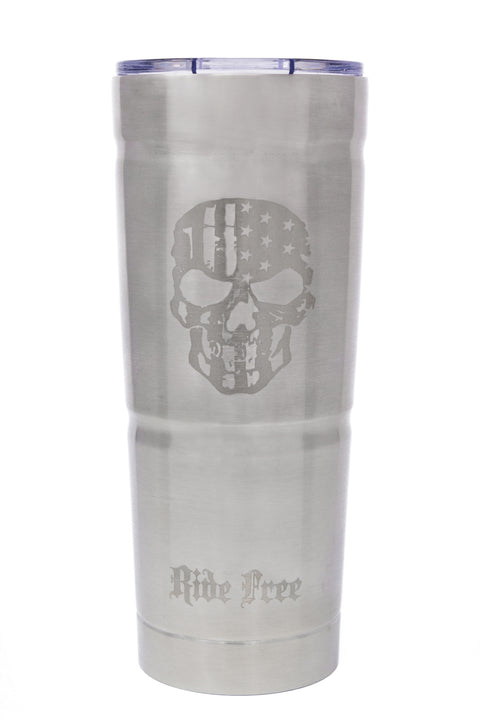 Stainless Steel Tumbler Silver RIDE FREE (25.4 oz)
