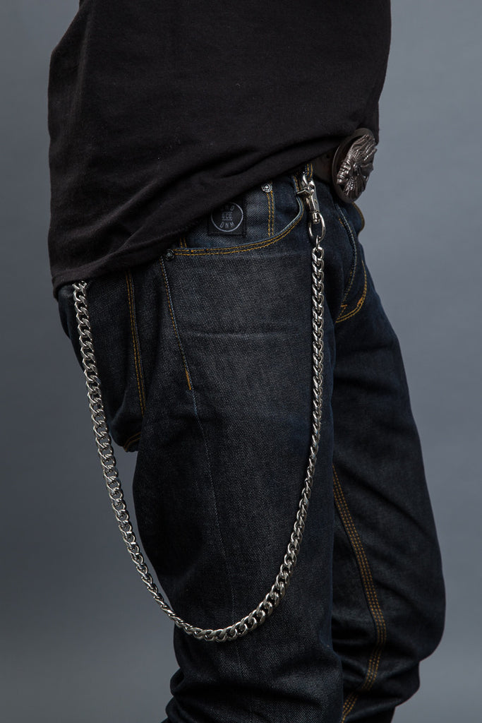 "35"" Single Row Stainless Steel Wallet Chain"