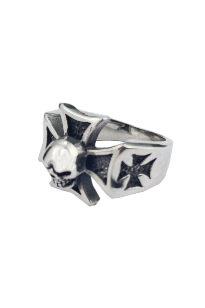 Iron Cross & Skull Ring