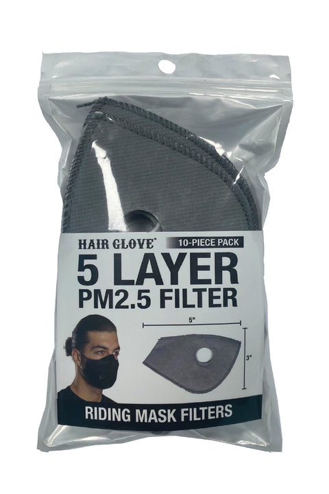 Riding Mask 5 Layer PM2.5 Filter- 10 Pcs Pack