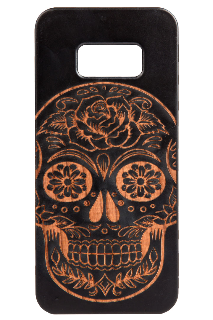 Sugar Skull Cherry Wood -iPhone/Samsung