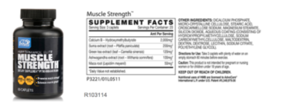 muscle strength supplement facts