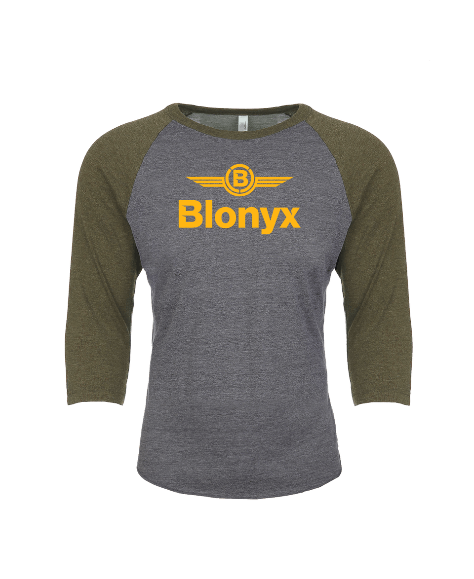 Blonyx S15 Baseball T - Military Green/ Premium Heather