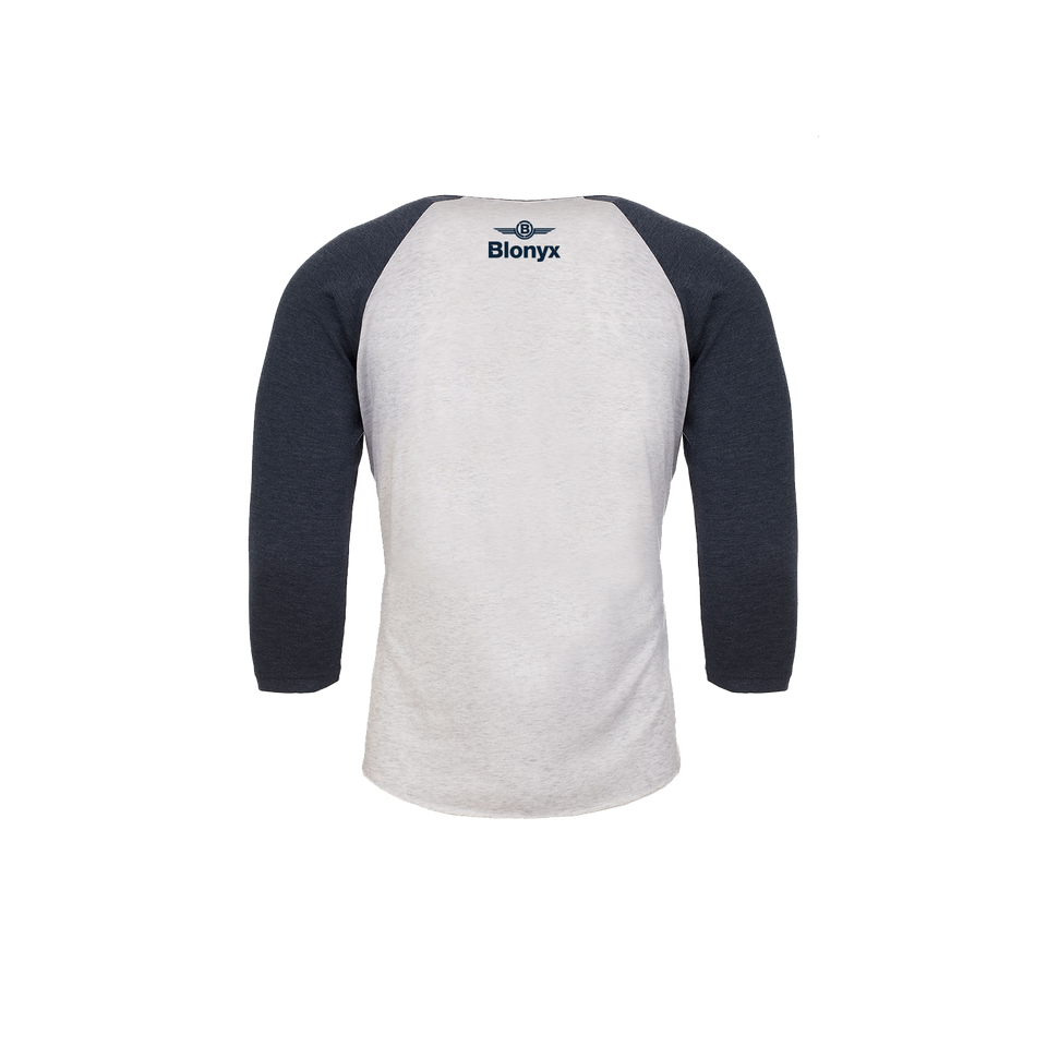 Blonyx S13 Baseball T - INDIGO/ Heather White
