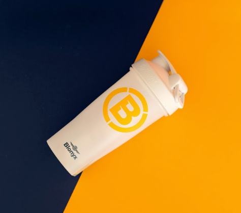 Blonyx Blender Bottle Classic Shaker Cup - White/Yellow