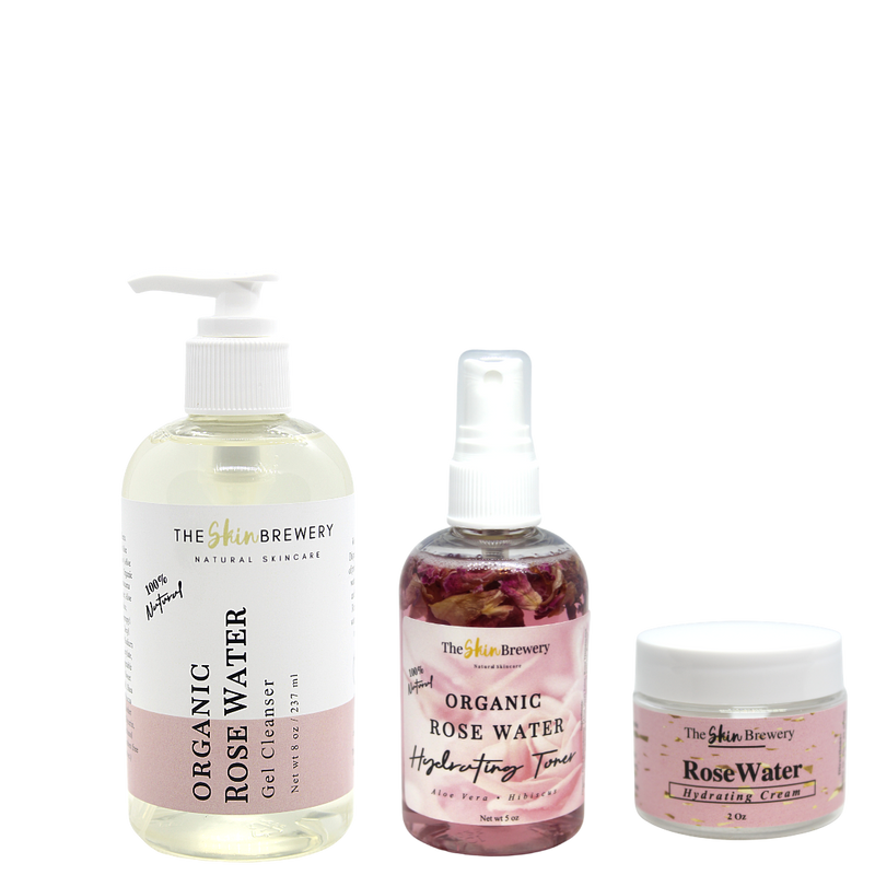 Organic Rose Water Trio - The Skin Brewery