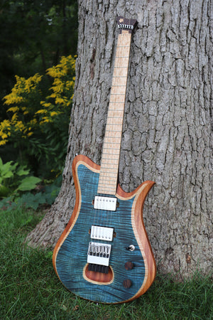 Blue Curly Maple Headless Epoch