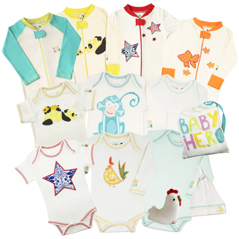 12 Piece All Organic Starter Kit - Unisex, Birth to 12 Months