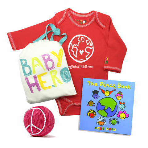 #GlobalKidizen Gift Set - Onesie + Book + Toy