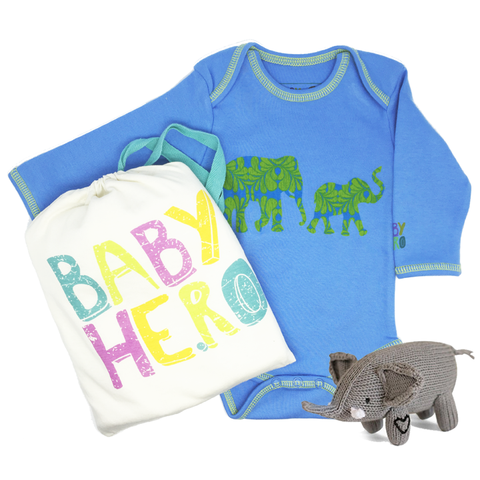 Baby Elephant Gift Set - Blue