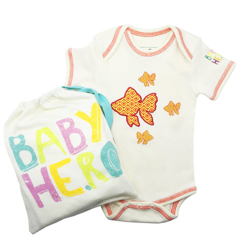 Fish Onesie Short-Sleeve - Baby Hero - 3