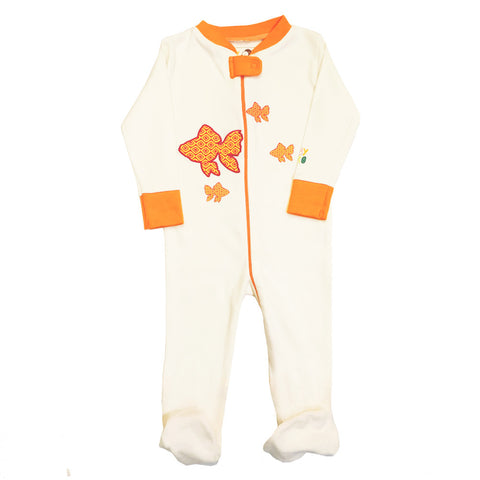 Fish Onesie/Footie Gift Set - 100% Organic Cotton - Baby Hero - 5