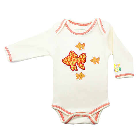 Fish Onesie - Long-Sleeve, 100% Organic Cotton - Baby Hero - 1
