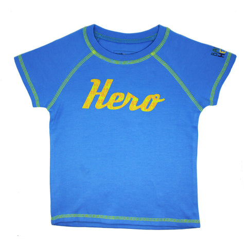 Ketu Tee - Blue - Short-Sleeve, 100% Organic Cotton - Baby Hero - 1