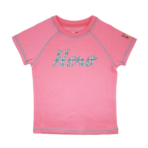 Ketu Tee - Pink - Short-Sleeve, 100% Organic Cotton - Baby Hero - 1