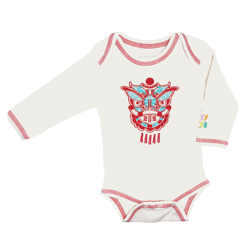 Lion Dance Onesie - Red