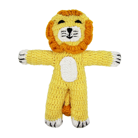 Sheru, Our Handknit, Heroic Lion! - Fair-Trade Toy - Baby Hero - 1
