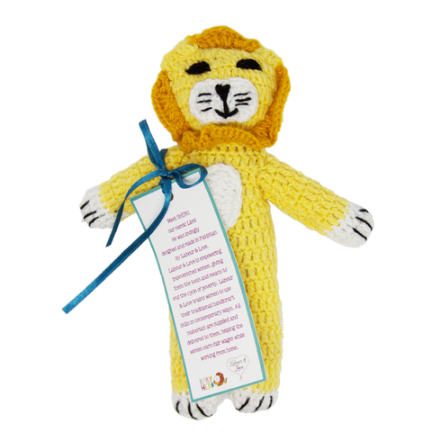 Sheru, Our Handknit, Heroic Lion! - Fair-Trade Toy - Baby Hero - 2