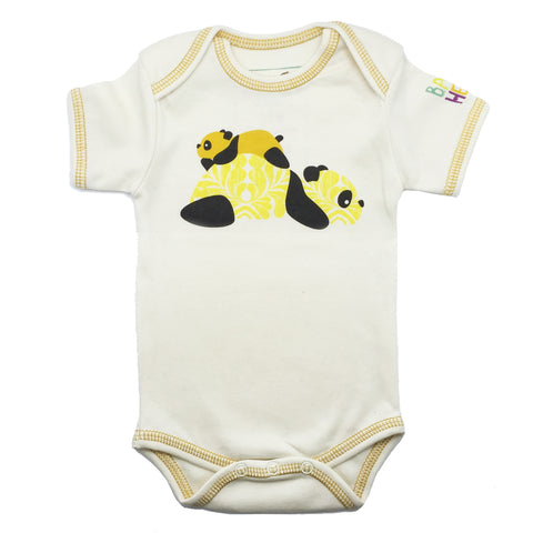 Panda Onesie - Yellow, Long-Sleeve