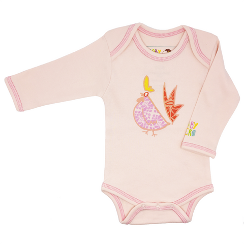 Pink Year of the Rooster Onesie Long-Sleeve - 100% Organic Cotton