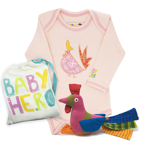 Rooster Squared Gift Set - Pink