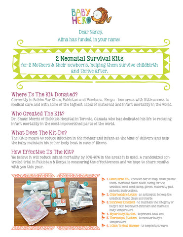 Donate A Neonatal Survival Kit - Baby Hero - 5