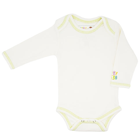 Zhob Onesie - Green - Long-Sleeve, 100% Organic Cotton - Baby Hero - 1
