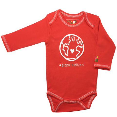 Global Kidizen Onesie - Red, 100% Organic Cotton - Baby Hero - 1