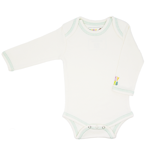 Zhob Onesie - Blue - Long-Sleeve, 100% Organic Cotton