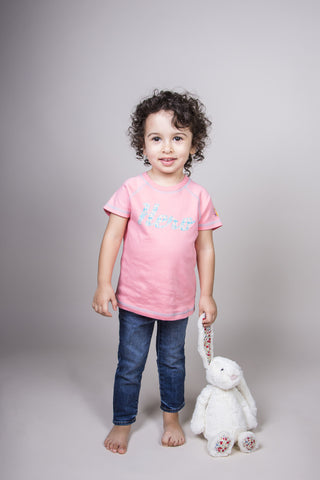 Jinta Football & Tee Gift Set - Pink - 100% Organic Cotton, Fair-Trade - Baby Hero - 3