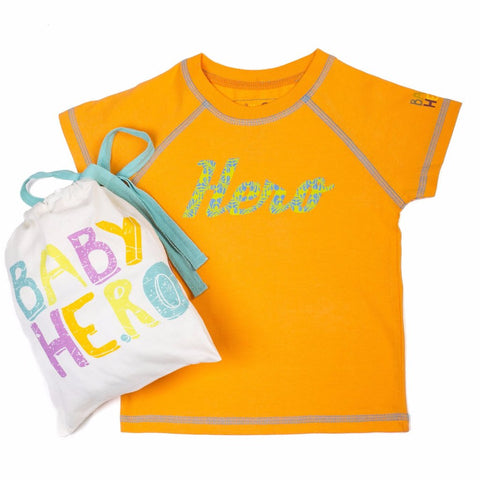 Ketu Tee - Orange - Short-Sleeve, 100% Organic Cotton - Baby Hero - 1
