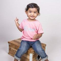 Ketu Tee - Pink - Short-Sleeve, 100% Organic Cotton - Baby Hero - 2