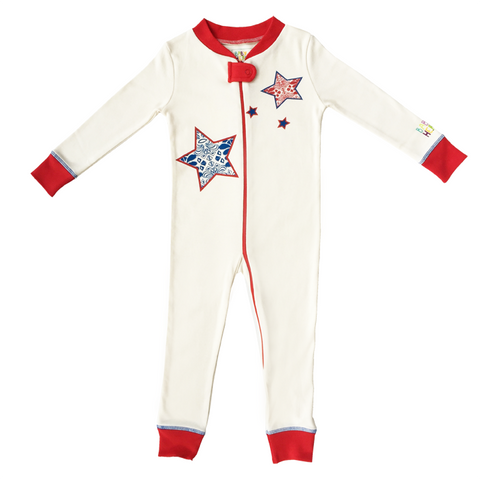 Star Footie - 100% Organic Cotton