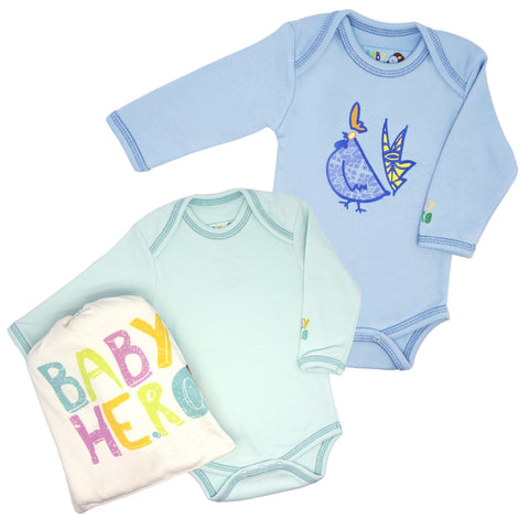 Year of the Rooster Onesie Gift Set - Blue