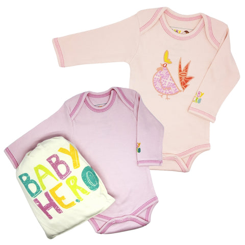 Year of the Rooster Onesie Gift Set - Pink
