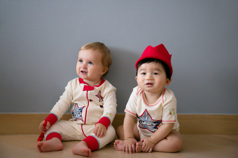 I Heart NYC Onesie/Toy Gift Set - 100% Organic Cotton - Baby Hero - 3