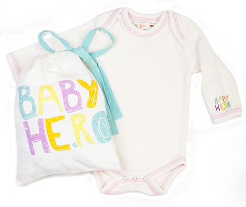 Cream with Pink Stitch - Baby Hero