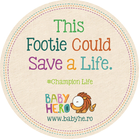Rimo Footie - Turquoise, 100% Organic Cotton - Baby Hero - 8