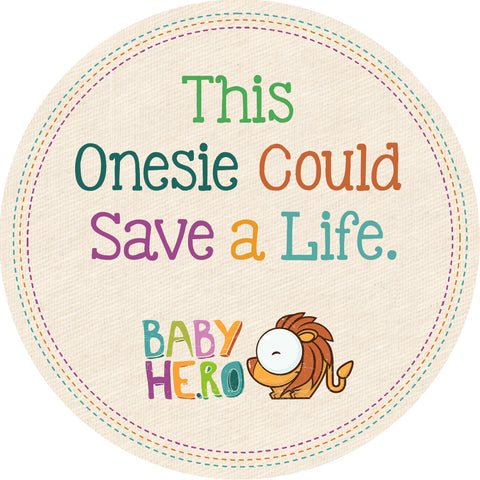 Love Onesie - Red, 100% Organic - Baby Hero - 3