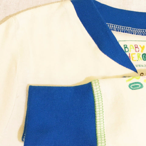 Panda Footie - Blue - 100% Organic Cotton - Baby Hero - 5