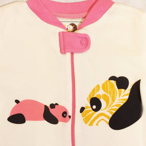 Panda Footie - Pink - 100% Organic Cotton - Baby Hero - 5