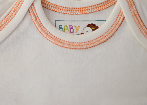Cream with Orange Stitch - Baby Hero